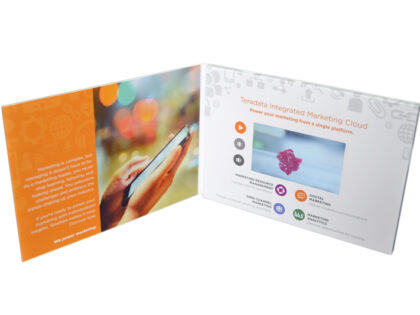 video LCD panel in presentation folder with 4.3inch LCD monitor
