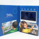 Video Book Hard bound cover book, 5inch LCD video monitor