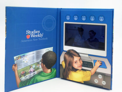 Video Panel in Book LCD Screen 5inch monitor