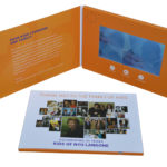 LCD Video Panel in Presentation Folder with Built in Speaker