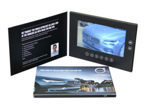 video lcd screen panel in presentation folder with 6 programmable buttons