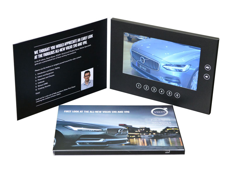 video lcd monitor panel in presentation folder with 6 programmable buttons
