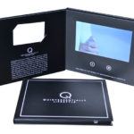 LCD Video Panels Monitor Presentation Folder with business card