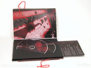 string tie on custom packaging, 2 dvd book set