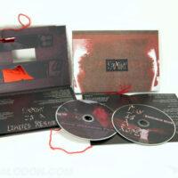 string tie on custom cd book set, 2 disc