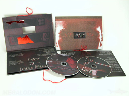 string tie on custom cd book set, 2 disc