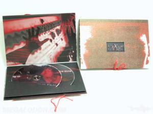 custom packaging dvd book set with string tie closure