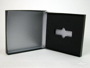 USB Box with 1C silver metallic ink printing inside