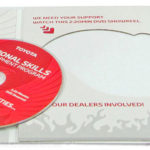 DVD jacket disc cut out eco friendly packaging
