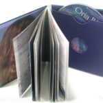 Soft cover cd jacket with swinging sleeve