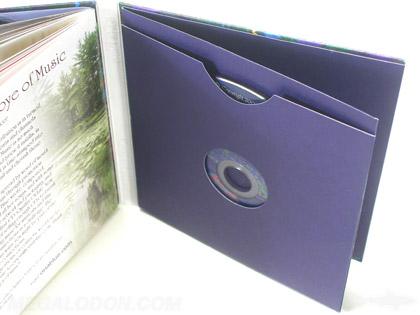 Oriablue4 4pp Jacket Glued In Booklet Debossing Glued In Disc Sleeve
