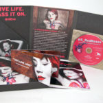CD Dvd digipak set with paper tray, slipcase, notebook, flip book