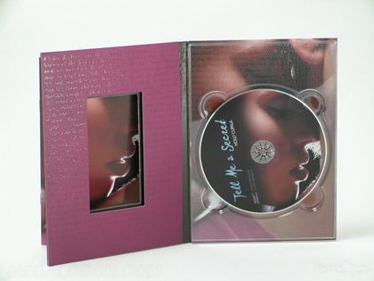 DVD Digipak die cut window showing booklet
