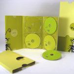 CD DVD Box Set with slipcase, 6pp megatall digipak, 4 dvds