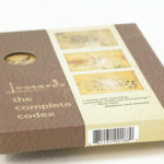 Die cut packaging custom hole in slipcase