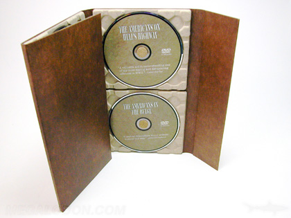 Organic DVD packaging with 100% recycled paper trays and fiberboard stock