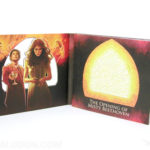 Die cut packaging with special pattern cut out in front panel of digipak