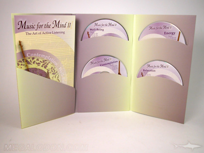 4disc set in tall jacket with curved pockets and booklet