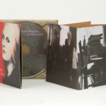 Uncoated paper matte digipak with recycled paper tray and booklet