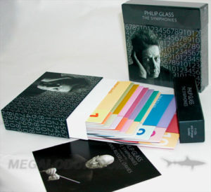 Multidisc set box, chipboard material with printed wrap, discs in jackets