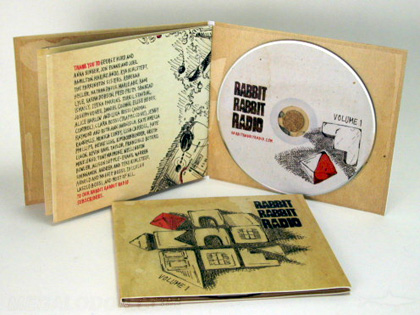 Matte uncoated paper stock, cd jacket packaging