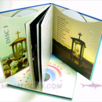 CD Book 2disc set with 4C glued on sleeves