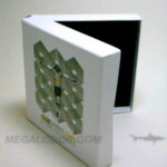 Deluxe box set with rigid chipboard core and foam insert usb pacakging