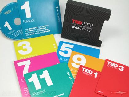 Multidisc CD DVD Slipcase Set TED spec, 8 disc jackets