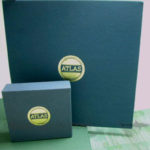 Linen wrapped boxes vinyl and cd slipcase set collection with linen wrap and gold foil
