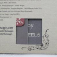 Die cut window in custom packaging paper tray digipak