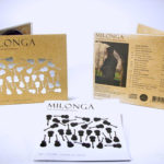 Organic Fiberboard digipak packaging with silver foil stamping