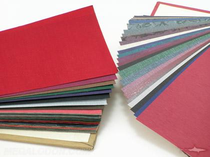 binding paper cloth samples fabric leatherette vinyl esi