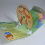 Custom pop up pak packaging die cut cd dvd
