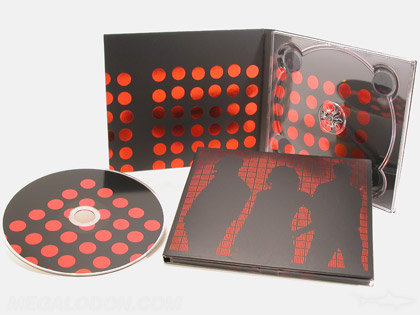 Foil stamping red dots on digipak and cd