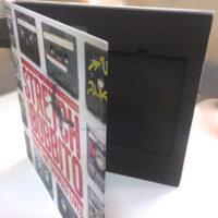 Vinyl Book Set - 12 inch height, 4pp, foam insert, record, disc, caseette, booklet