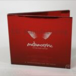 Red Foil Paper custom cd packaging reflective