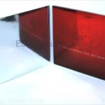 Reflective red foiling paper on custom packaging