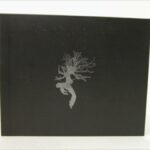 Silver foil dancing tree on black fiberboard custom packaging for cd