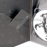 Custom business card in tall digipak with spot gloss ink and embossing