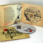Matte uncoated paper custom cd packaging