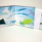 LP Packaging for CDs, chipboard stock laminated full color wrap, inner sleeve