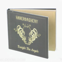 Hardcover CD book gold foil