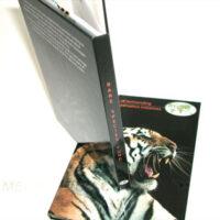 DVD Book Spine rigid chipboard material hard bound book