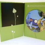 Recycled DVD Jacket custom die literature pocket and foam hub
