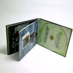 Custom CD jacket, inner pages attached at wrap at spine