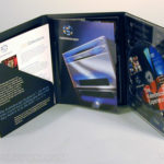 6pp DVD Digipak with literature pocket and glued on booklet