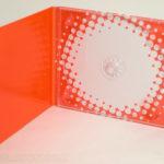 4pp digipak with bright orange and white printing