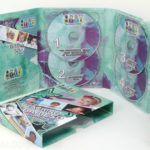 Double disc tray digipak 4 disc packaging 6pp tall