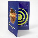 DVD Digipak, 4pp tall, spot gloss front cover