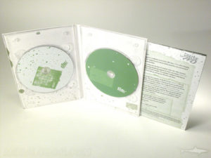 4pp tall dvd digipak, double disc, tube pocket under tray